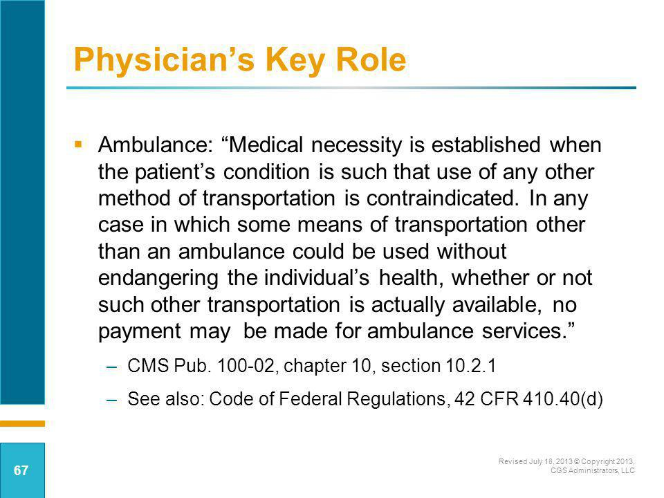 Physician's Key Role