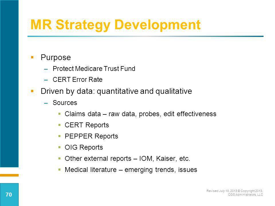MR Strategy Development