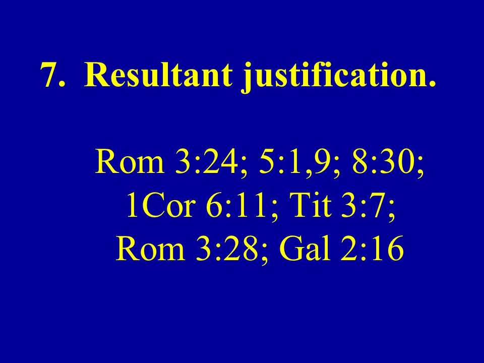 Resultant justification