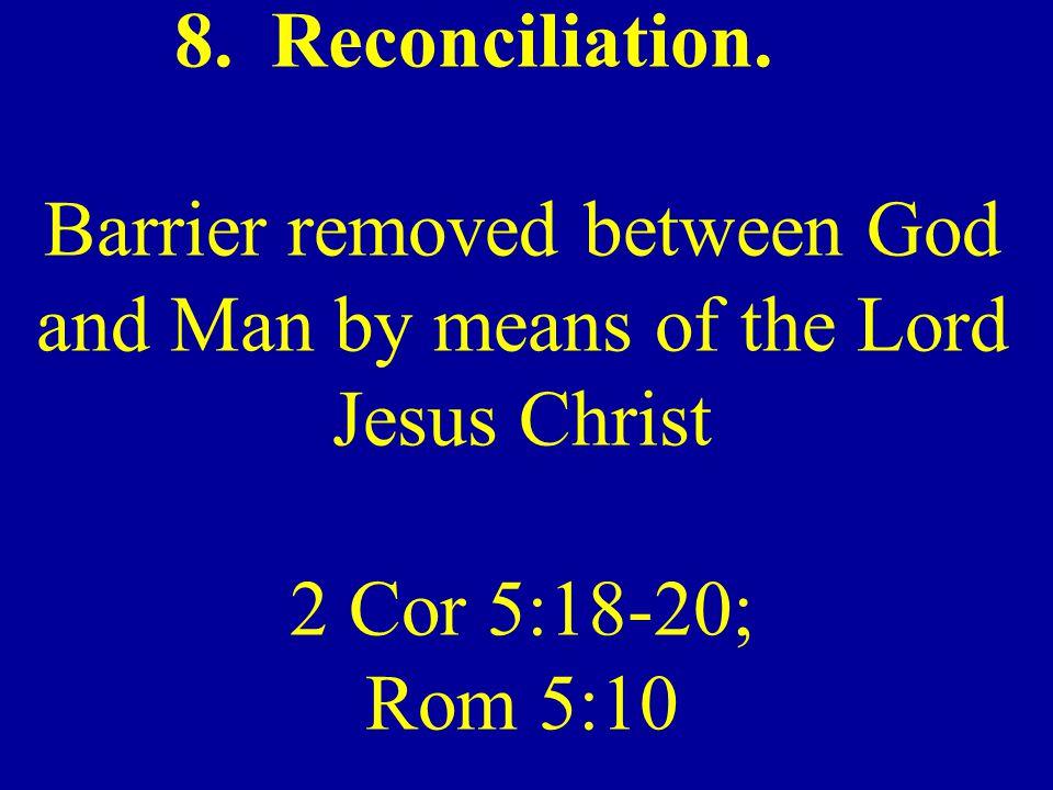 Reconciliation.