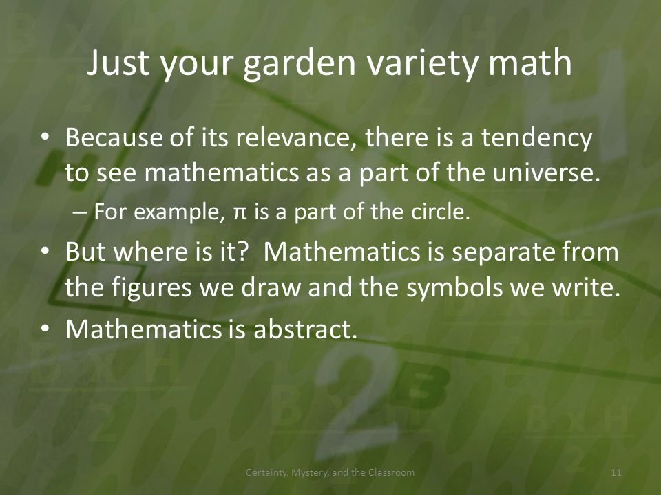 Just your garden variety math