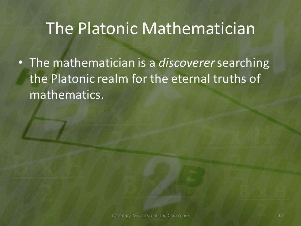 The Platonic Mathematician