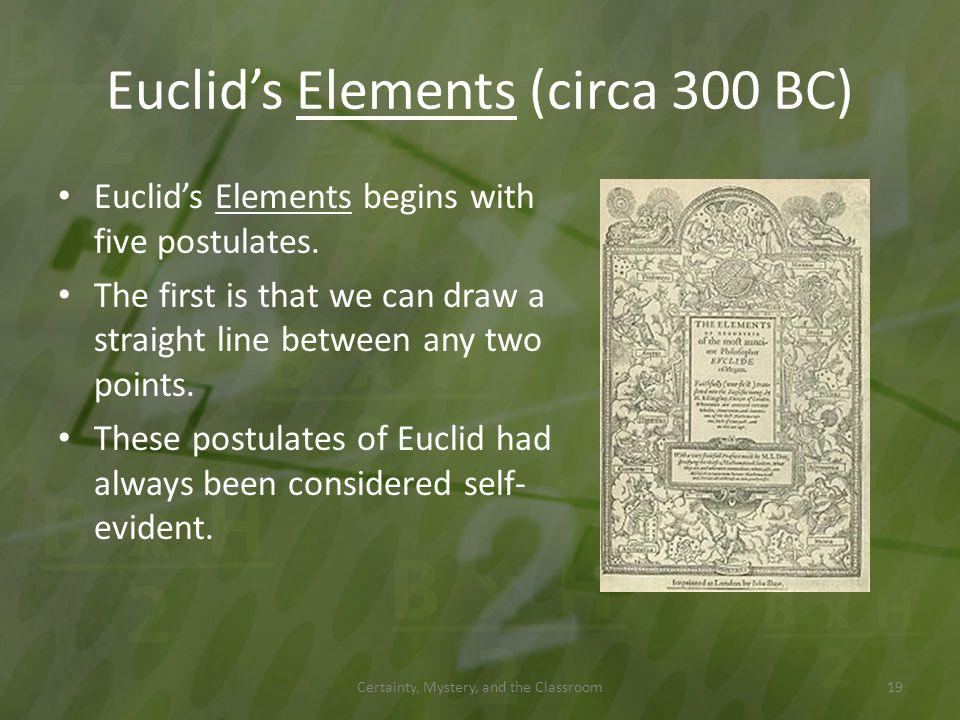 Euclid's Elements (circa 300 BC)