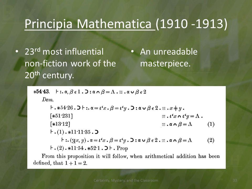 Principia Mathematica (1910 -1913)