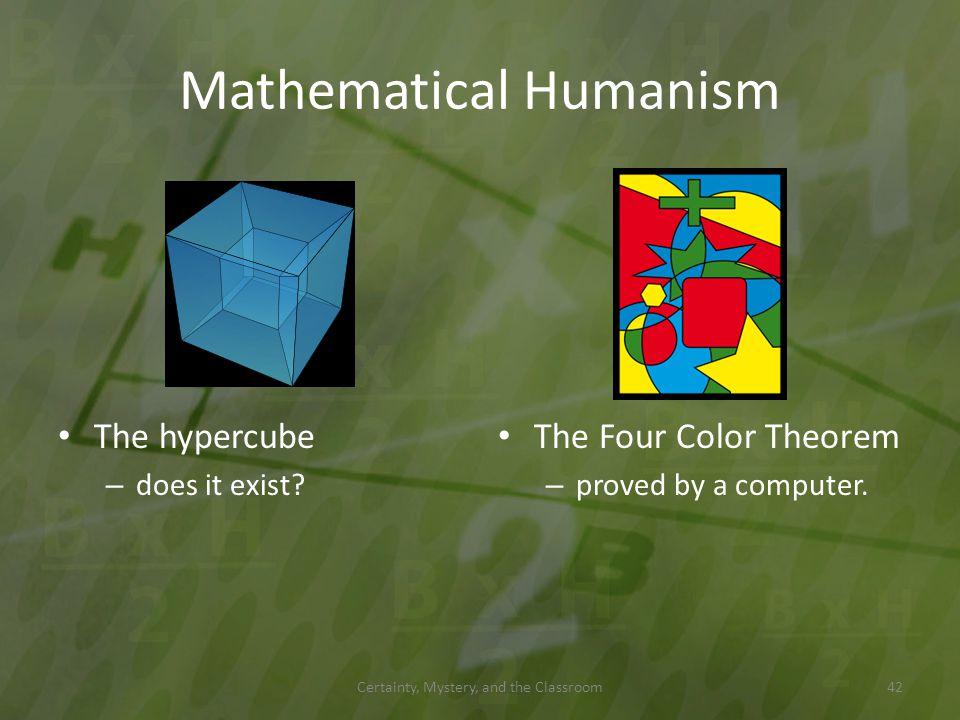 Mathematical Humanism
