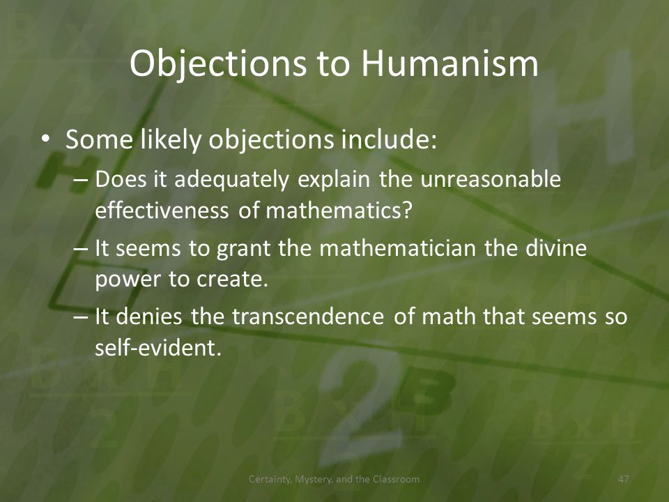 Objections to Humanism