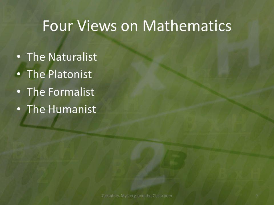 Four Views on Mathematics
