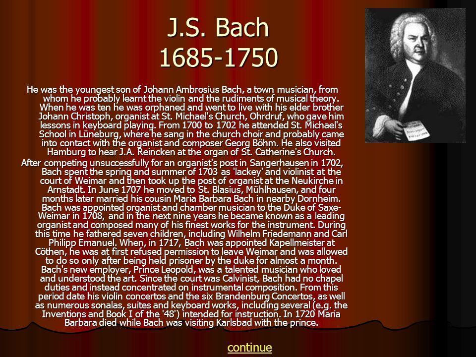 J.S. Bach 1685-1750