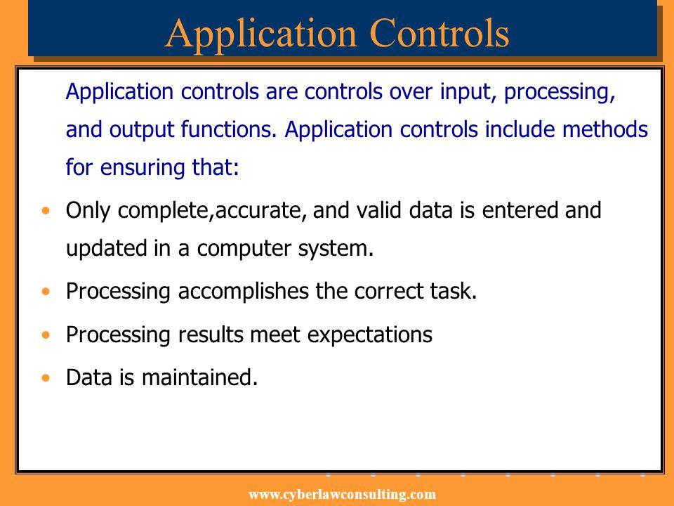 Application Controls