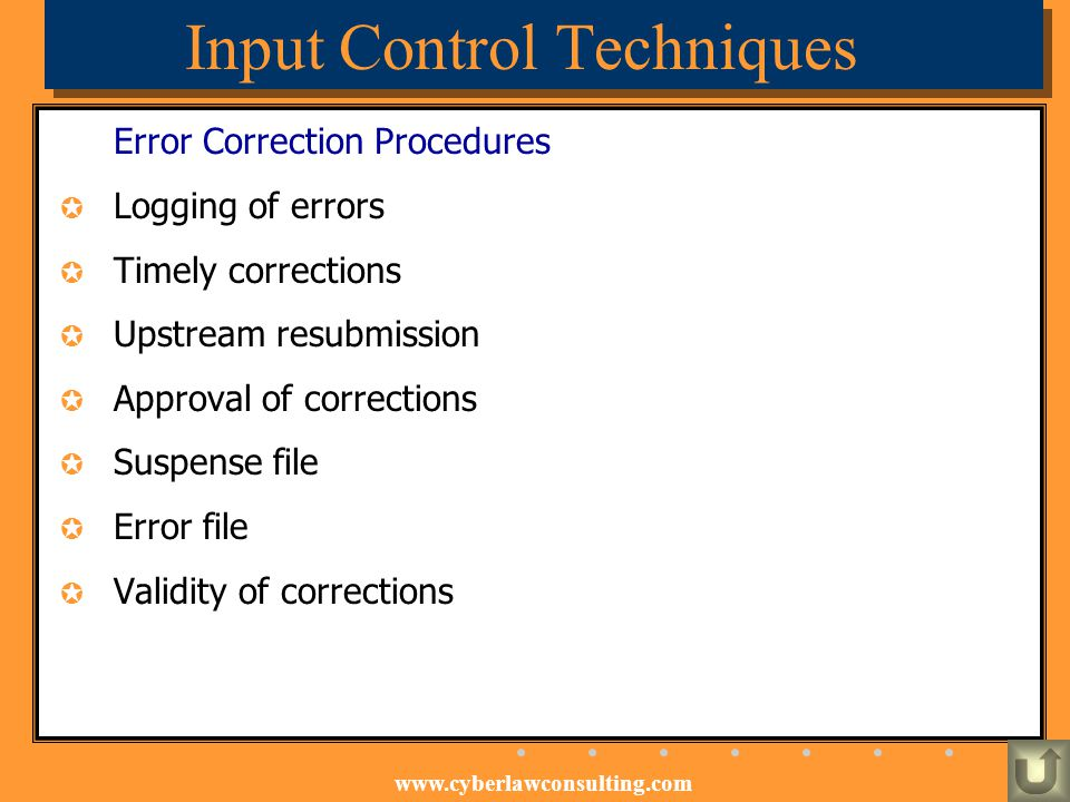 Input Control Techniques