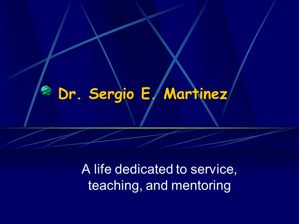 A life dedicated to service, teaching, and mentoring