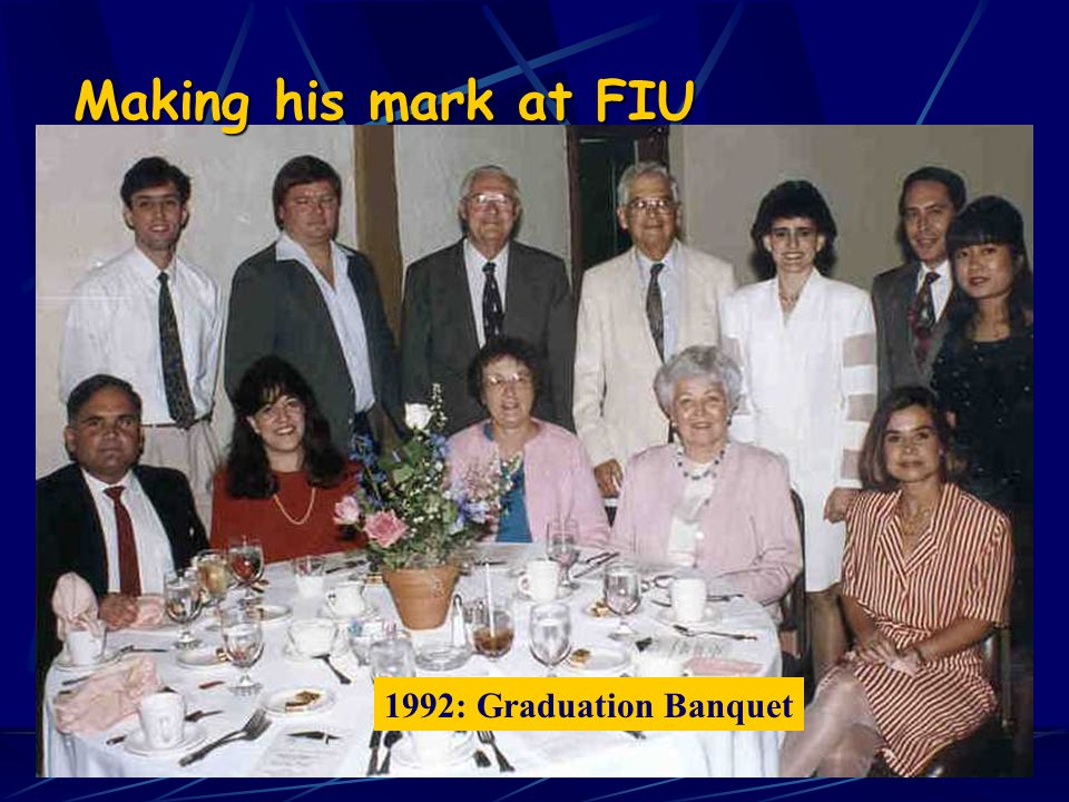 1991: Receiving Advising Award