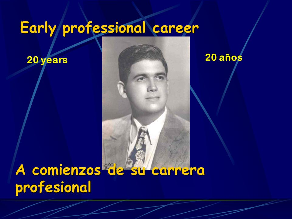 Early professional career
