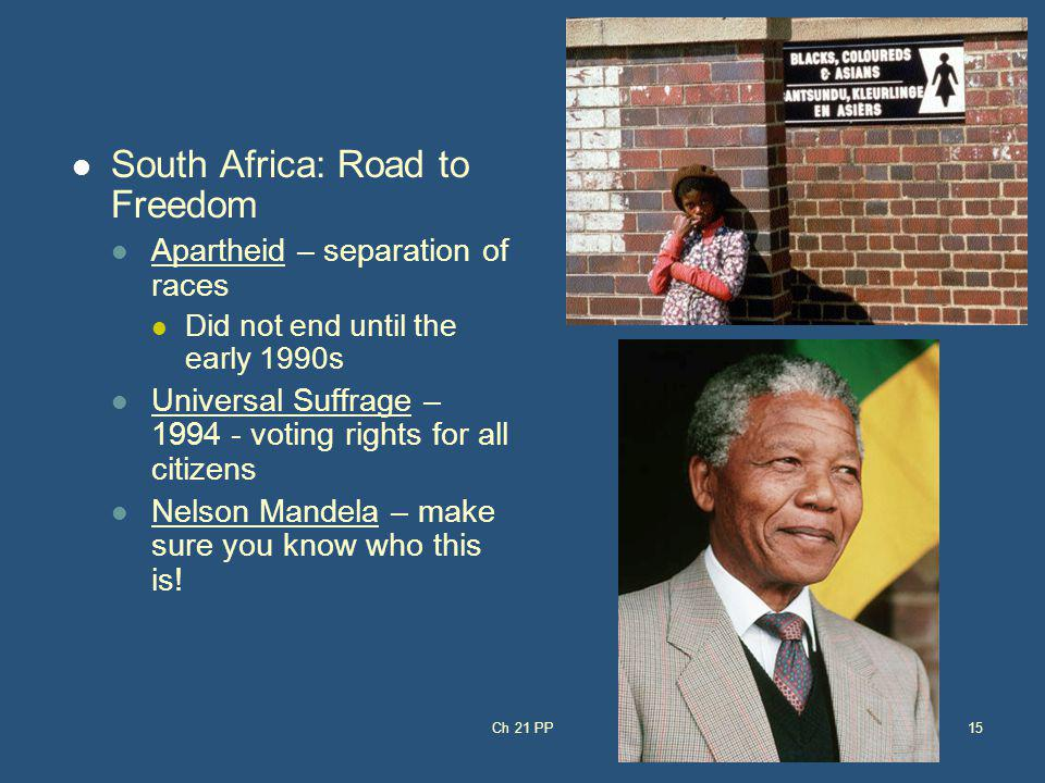 South Africa: Road to Freedom