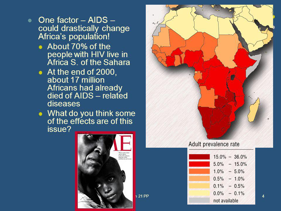 One factor – AIDS – could drastically change Africa's population!