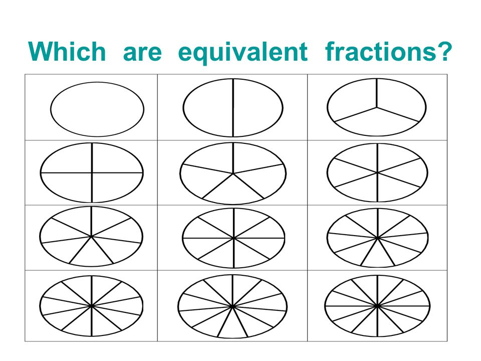 Which are equivalent fractions