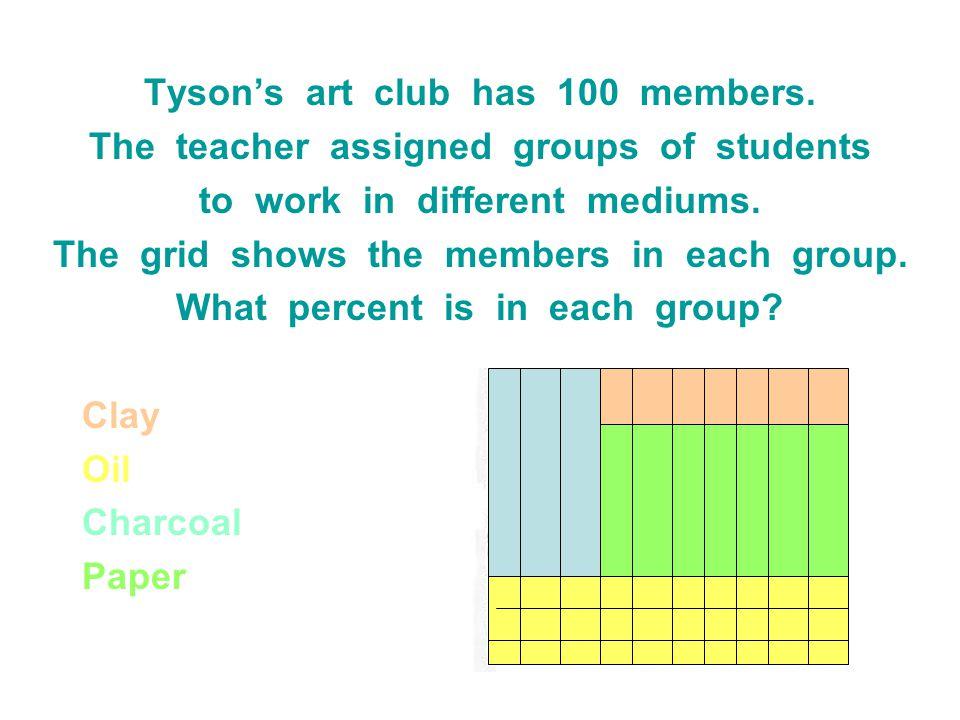Tyson's art club has 100 members.