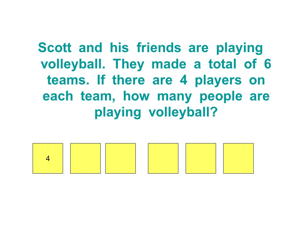 Scott and his friends are playing volleyball