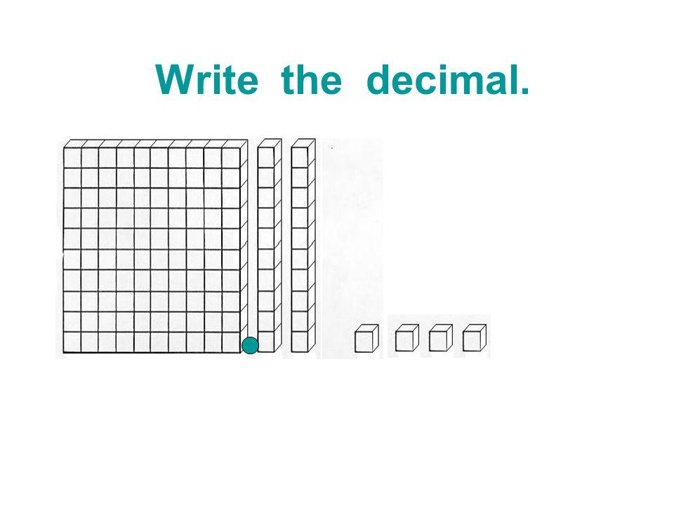 Write the decimal.