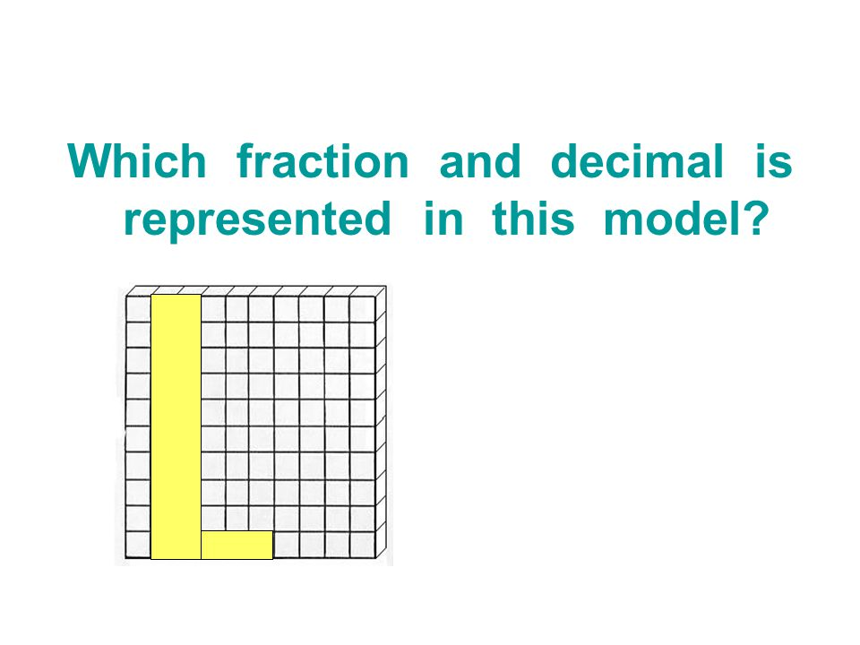 Which fraction and decimal is represented in this model