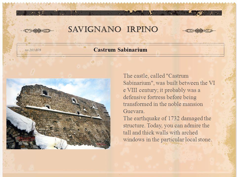 Savignano irpino Castrum Sabinarium