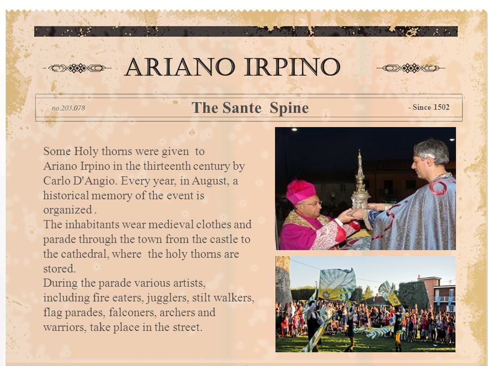 Ariano Irpino The Sante Spine