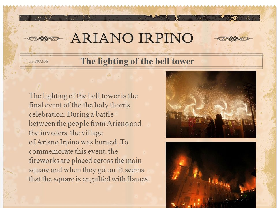 Ariano Irpino The lighting of the bell tower