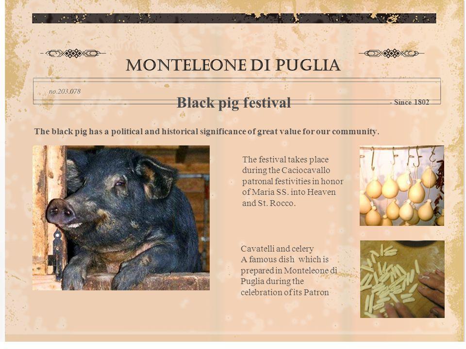 Monteleone di puglia Black pig festival