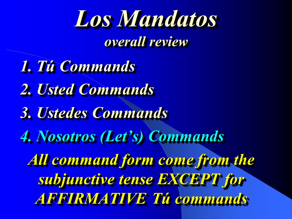 Los Mandatos overall review