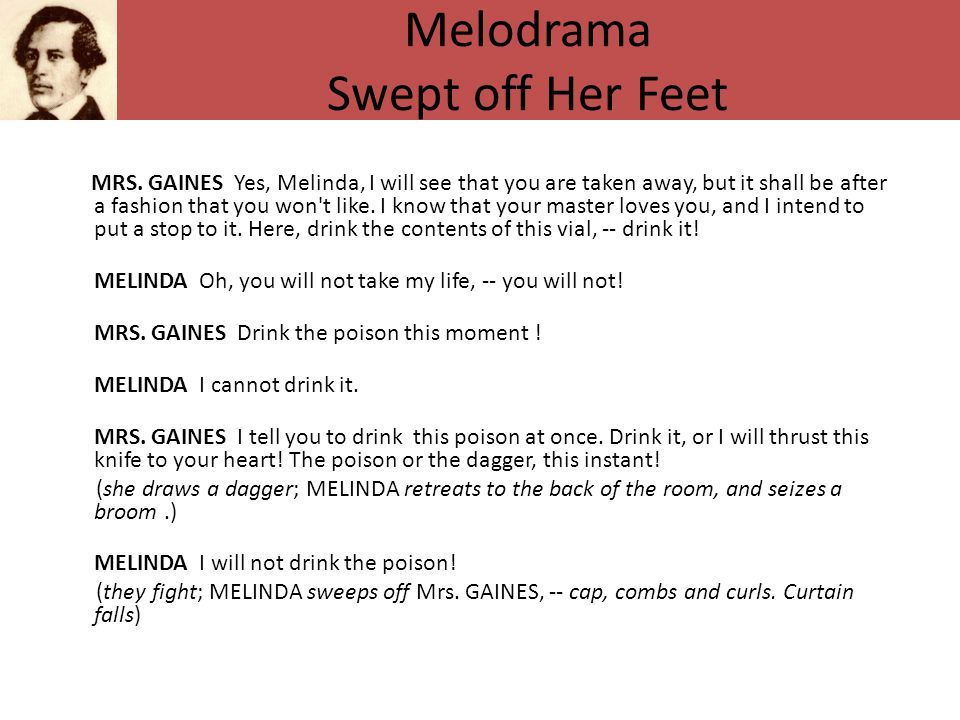 Melodrama Swept off Her Feet