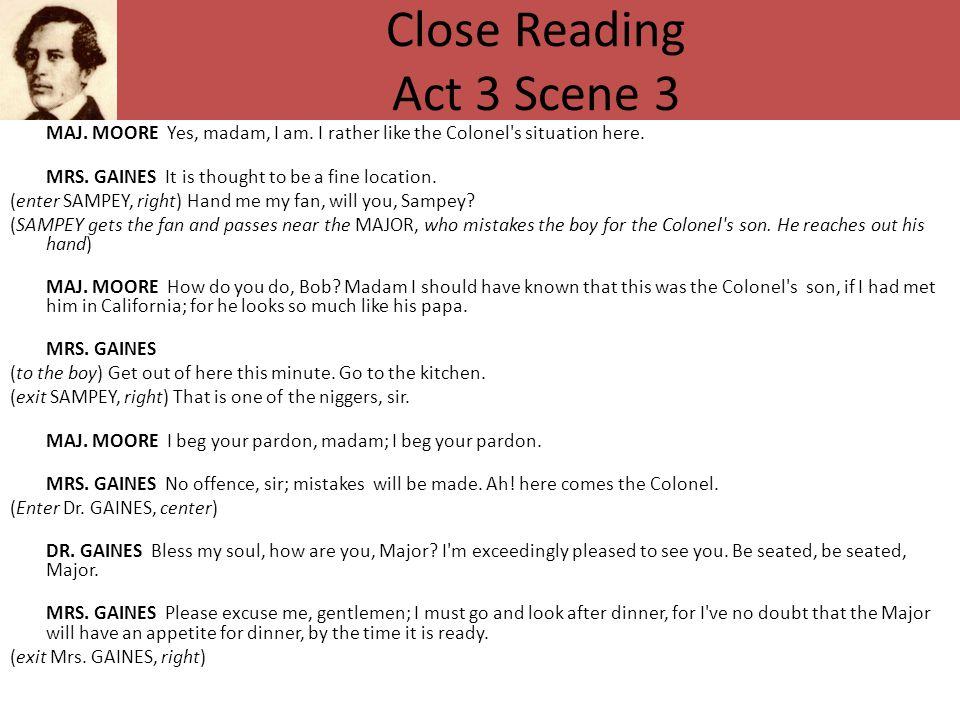 Close Reading Act 3 Scene 3