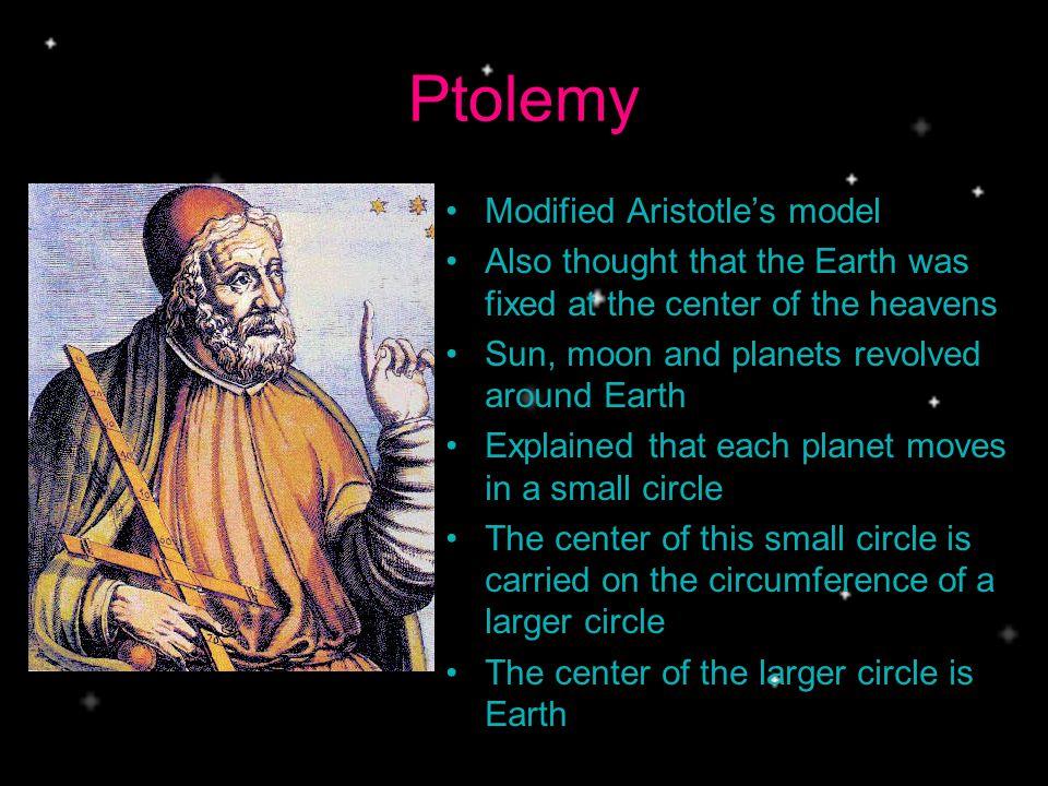 Ptolemy Modified Aristotle's model