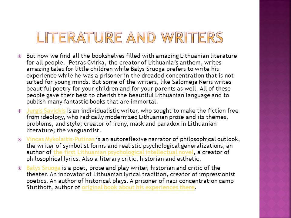 Literature and writers