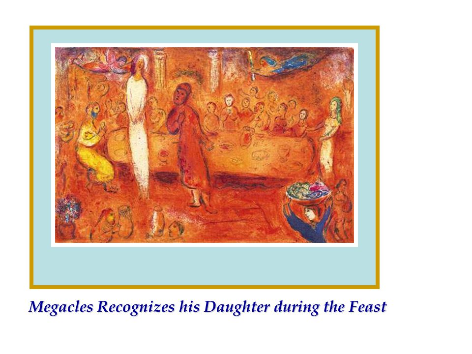 Megacles Recognizes his Daughter during the Feast