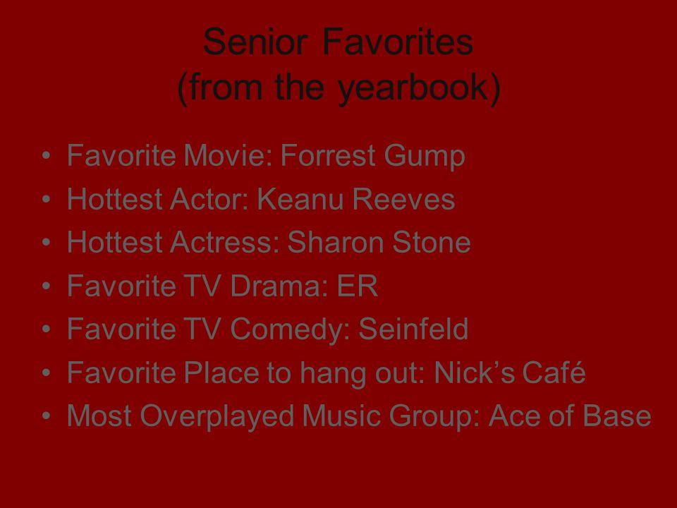 Senior Favorites (from the yearbook)