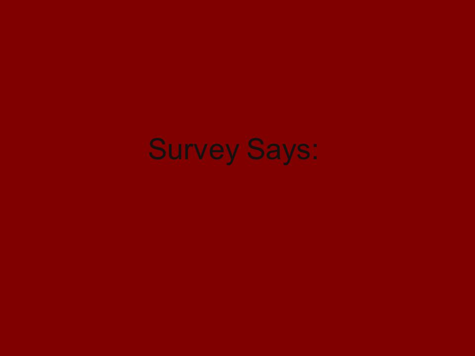 Survey Says: