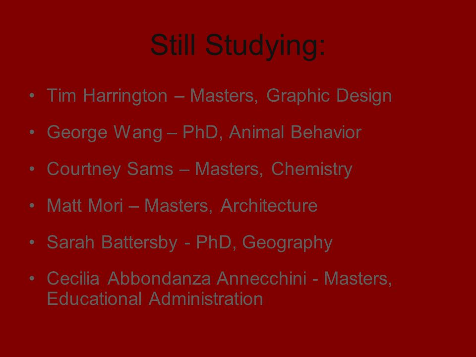 Still Studying: Tim Harrington – Masters, Graphic Design