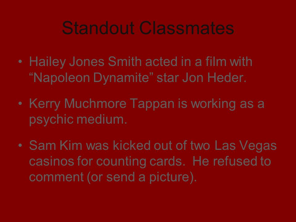 Standout Classmates Hailey Jones Smith acted in a film with Napoleon Dynamite star Jon Heder.