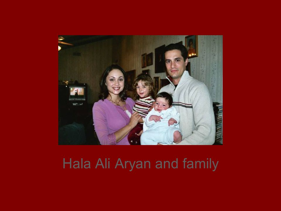 Hala Ali Aryan and family