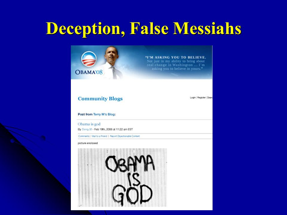 Deception, False Messiahs