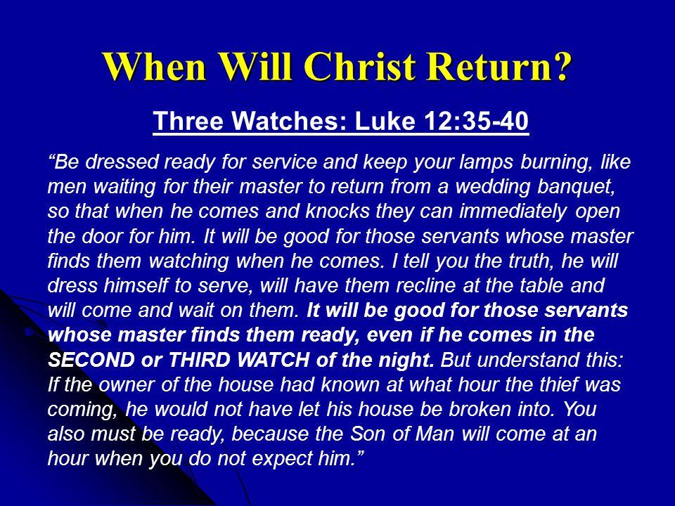 When Will Christ Return