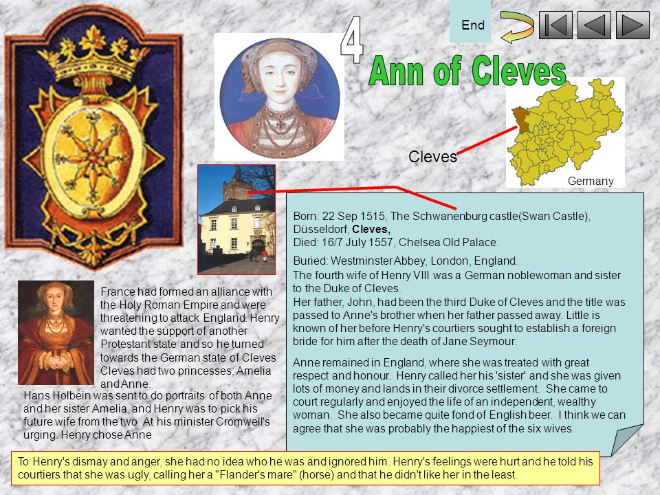 4 Ann of Cleves Cleves End Germany