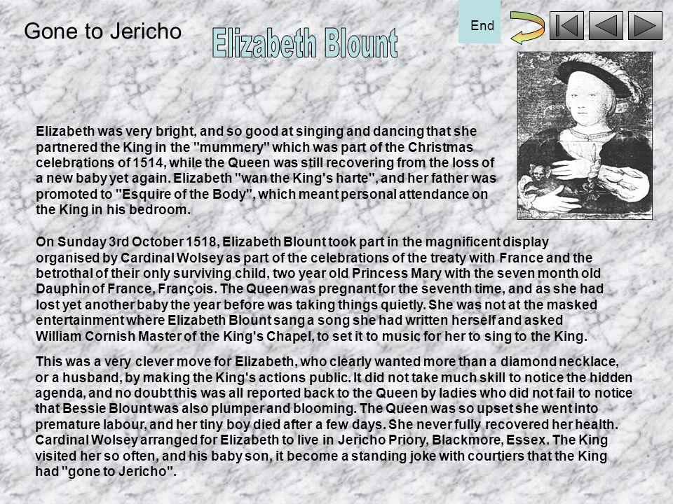Elizabeth Blount Gone to Jericho End