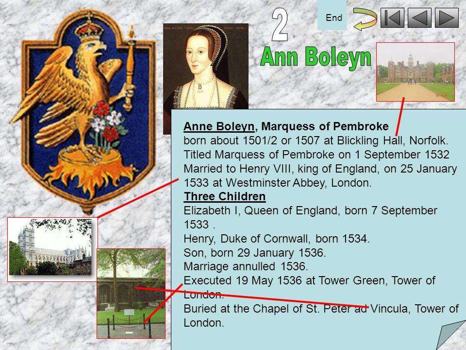 2 End. Ann Boleyn.
