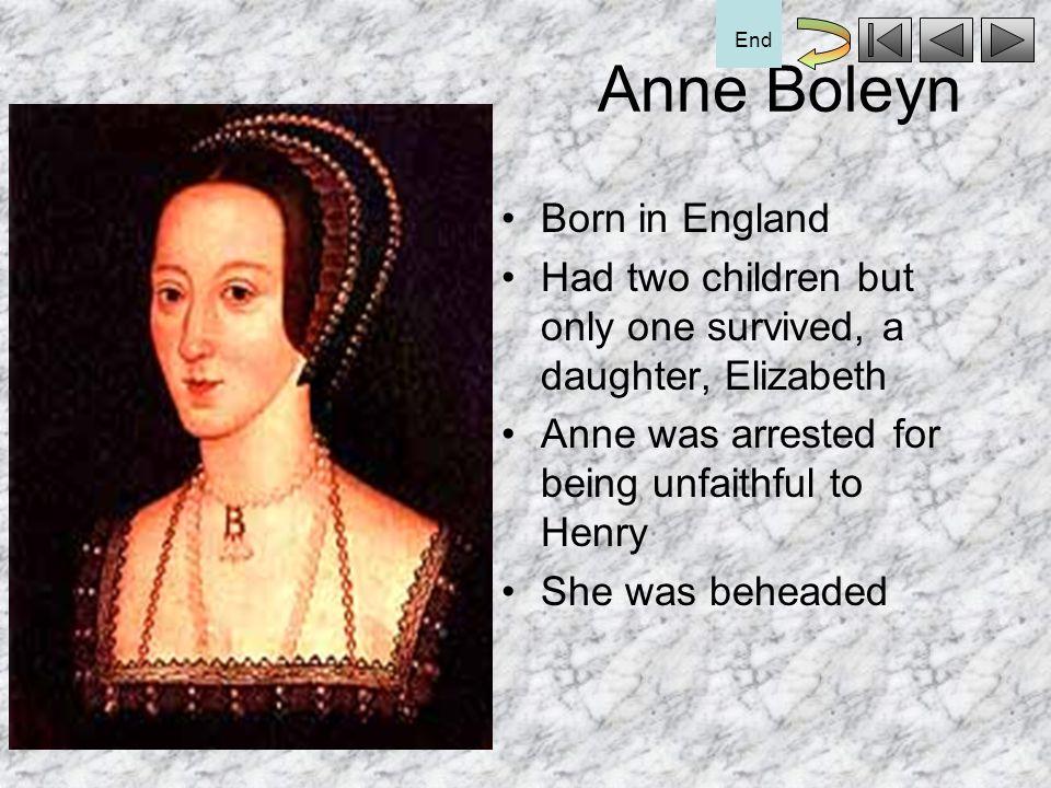 Anne Boleyn Born in England