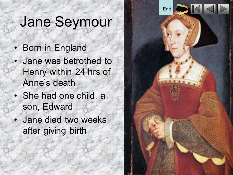 Jane Seymour Born in England