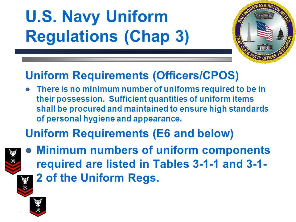 U.S. Navy Uniform Regulations (Chap 3)