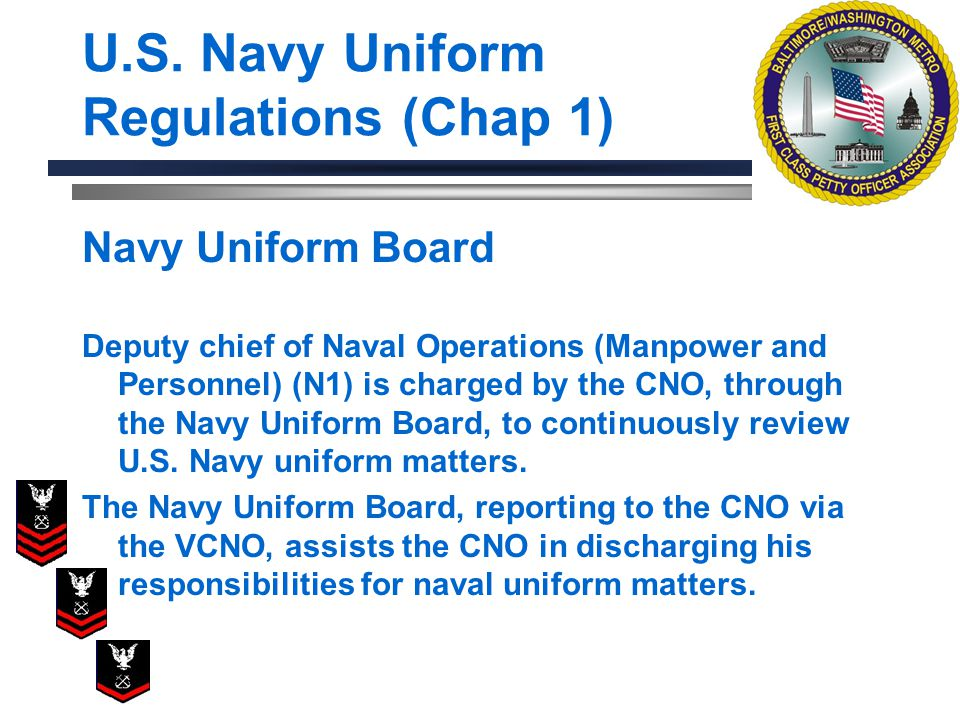 U.S. Navy Uniform Regulations (Chap 1)