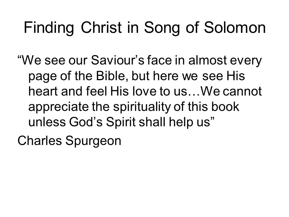 Finding Christ in Song of Solomon