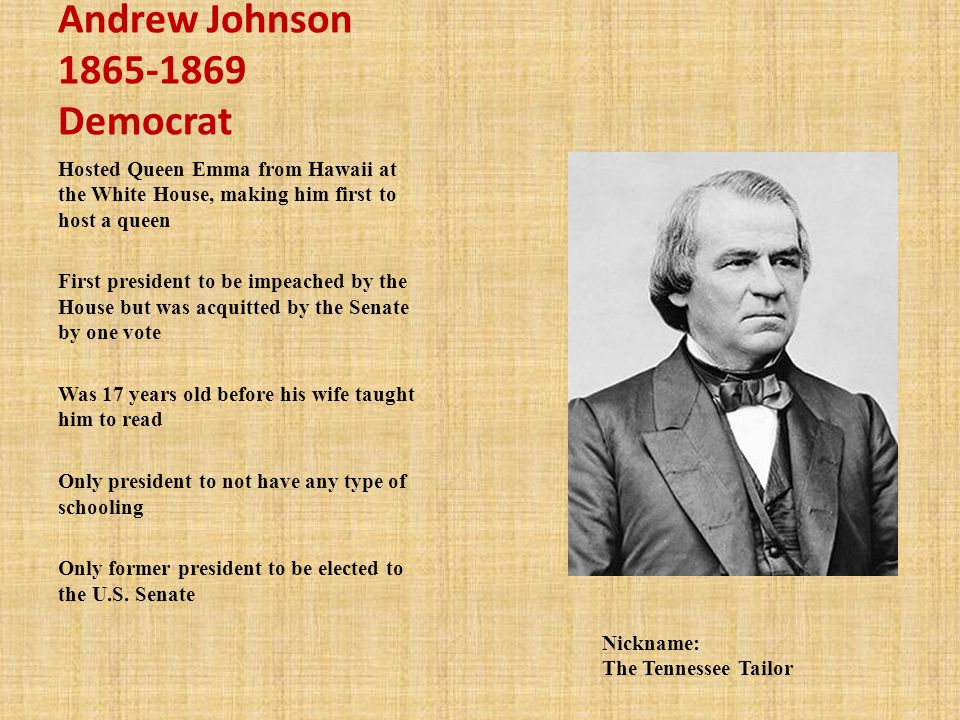 Andrew Johnson Democrat